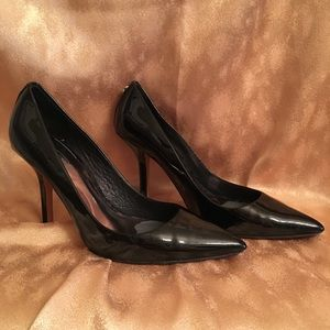 Coach Black Patent Leather Heels